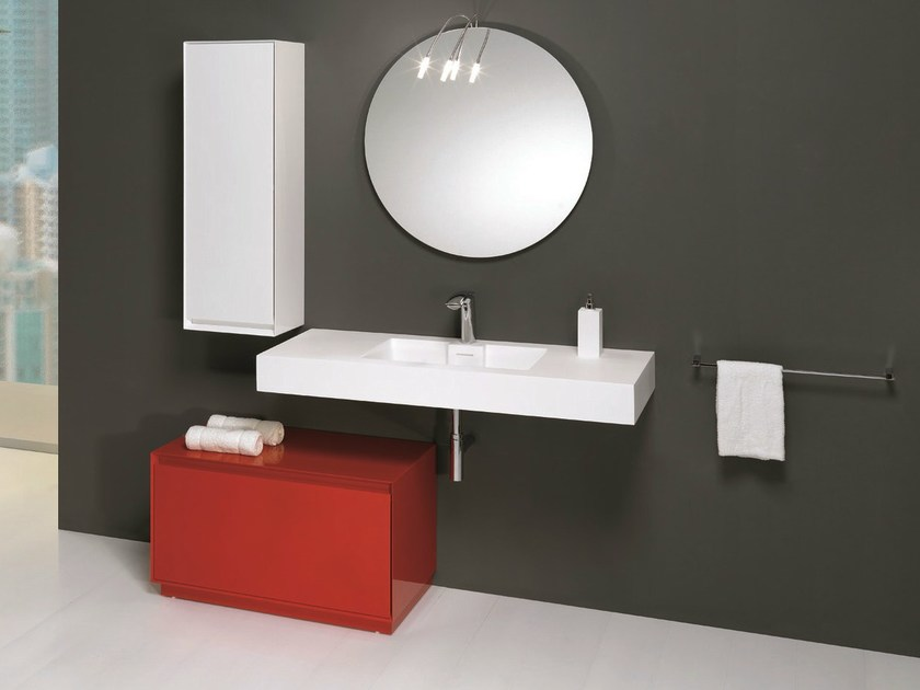 Floorstanding bathroom cabinet with drawers LU.18 - Mobiltesino