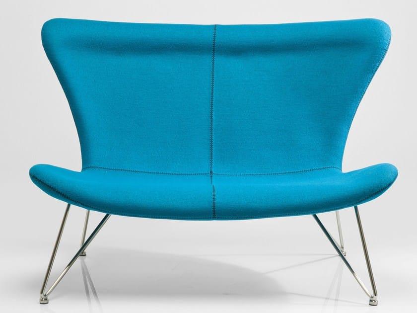 2 seater high-back fabric sofa MIAMI TURQUOISE - KARE-DESIGN