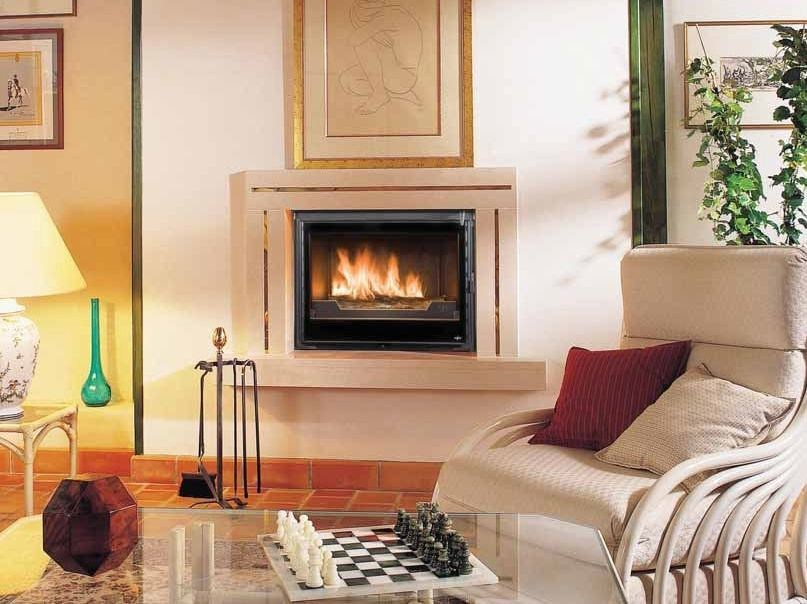 Wood-burning built-in wall-mounted fireplace ANKARA by CHEMINEES SEGUIN
