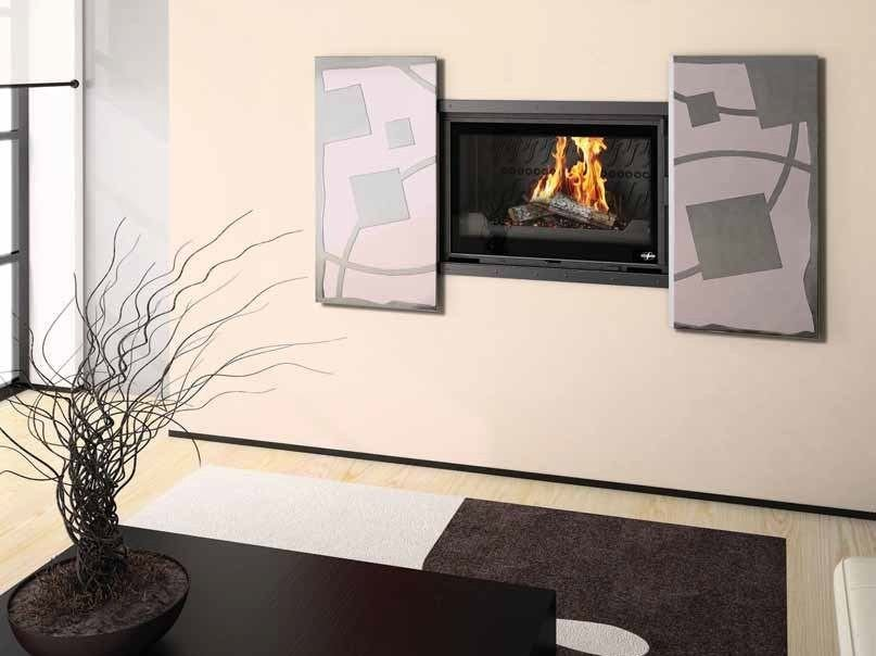 Wood-burning built-in wall-mounted fireplace BAGANA - CHEMINEES SEGUIN DUTERIEZ