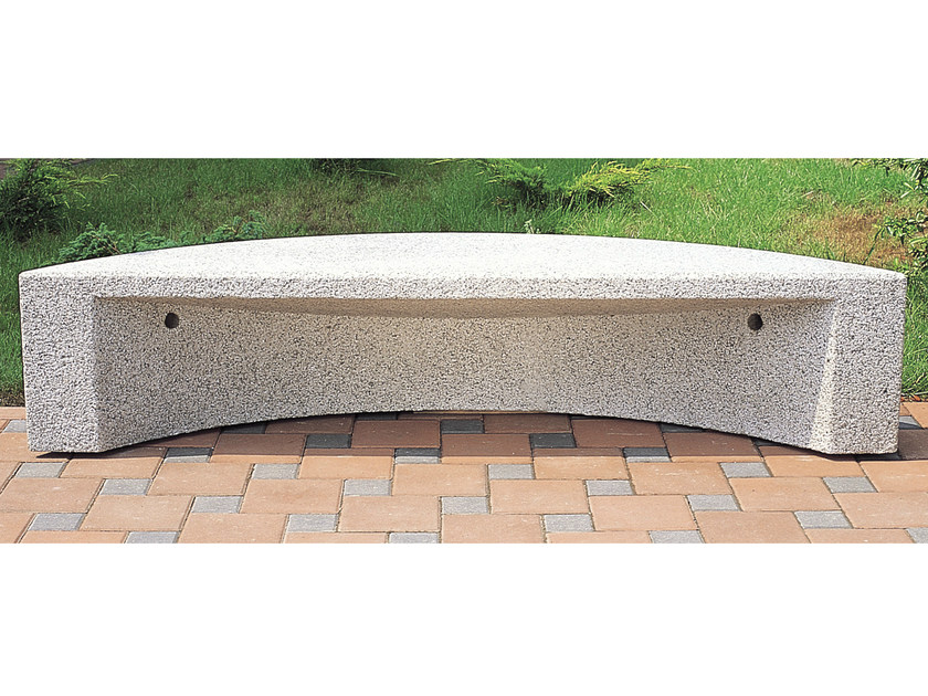 Backless concrete Bench ARCO - Gruppo Industriale Tegolaia