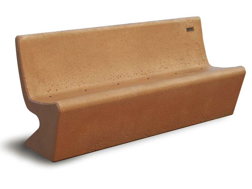 Concrete Bench with back SIESTA - Gruppo Industriale Tegolaia