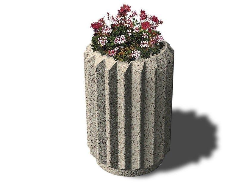 Concrete Flower pot COROLLA - Gruppo Industriale Tegolaia