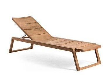 Contemporary style Recliner wooden garden daybed DIUNA | Garden daybed - OASIQ