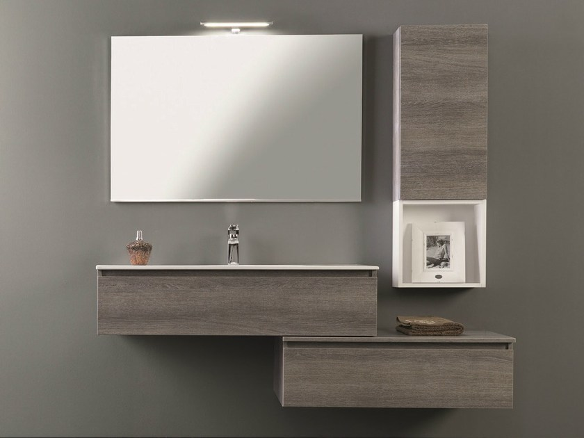 Lacquered vanity unit with drawers HD.01 - Mobiltesino