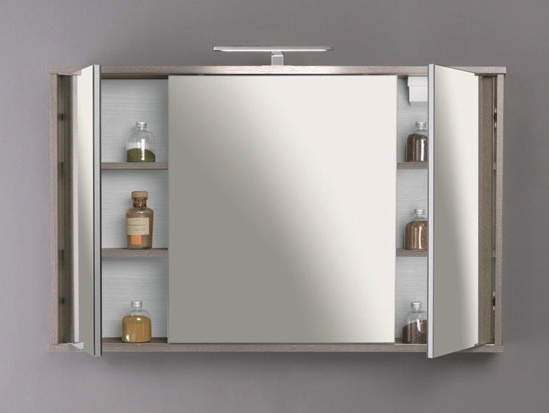 Suspended bathroom cabinet with mirror HD.11 - Mobiltesino