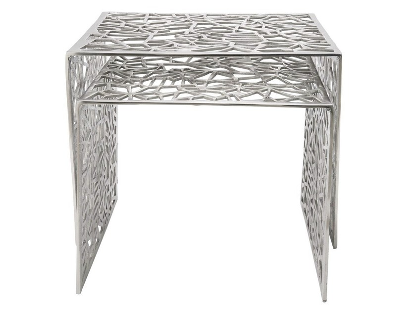 Aluminium side table SPIDERNET by KARE-DESIGN