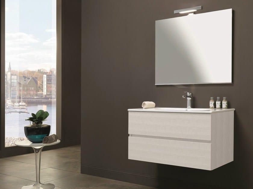 Mobile lavabo singolo con cassetti HD.14 by Mobiltesino