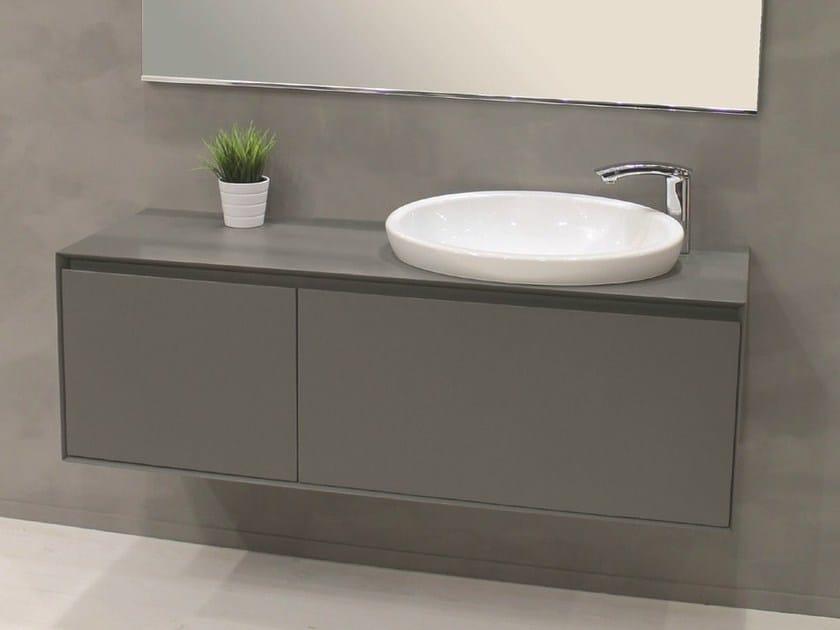 Wall-mounted vanity unit with doors LU.35 - Mobiltesino