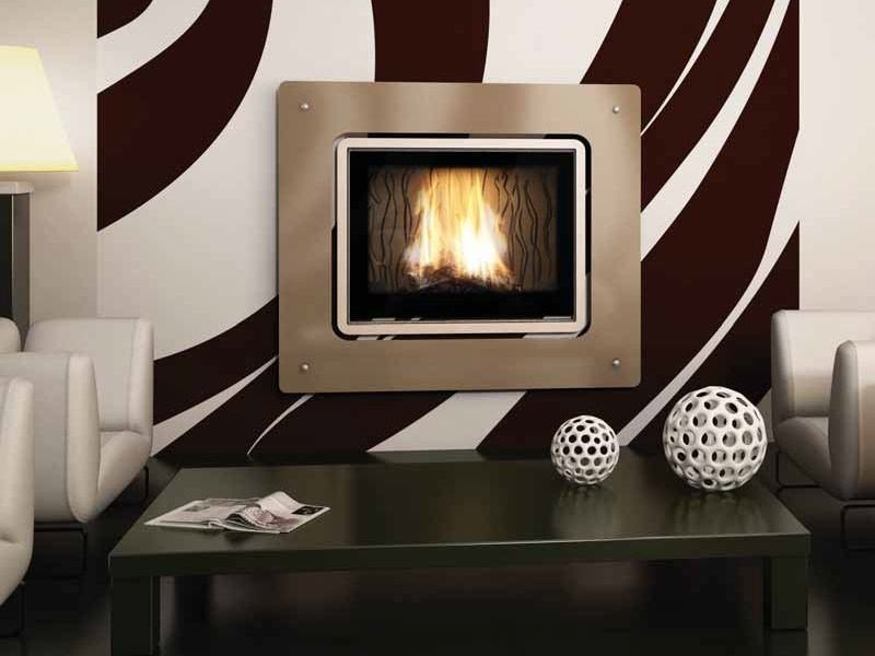 Wood-burning built-in wall-mounted fireplace MURANO - CHEMINEES SEGUIN DUTERIEZ