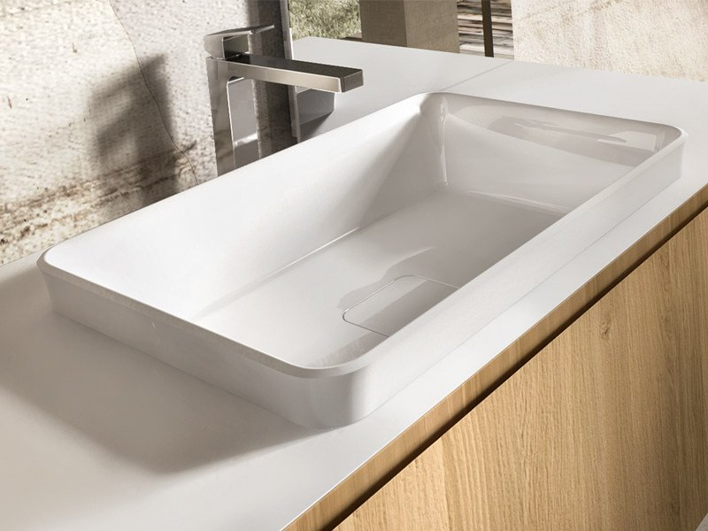 Inset rectangular washbasin NEMES - Edoné by Agorà Group