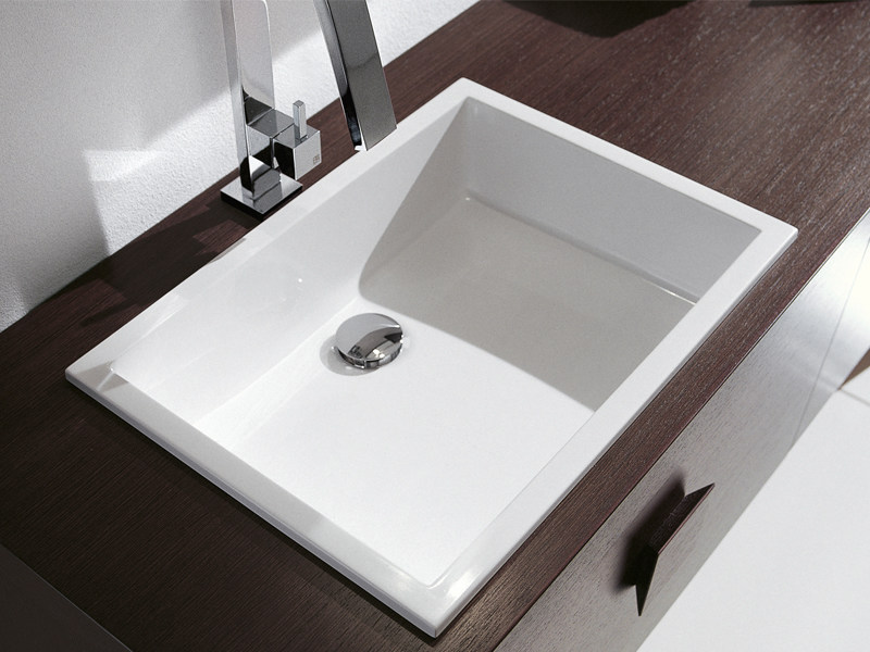 Inset rectangular washbasin RIGA | Inset washbasin - Edoné by Agorà Group