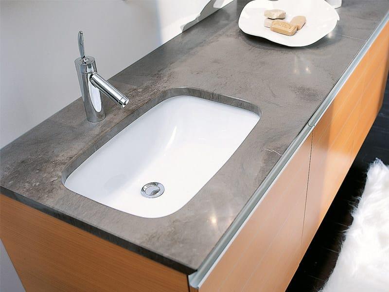 Undermount rectangular ceramic washbasin NETTUNO - Edoné by Agorà Group