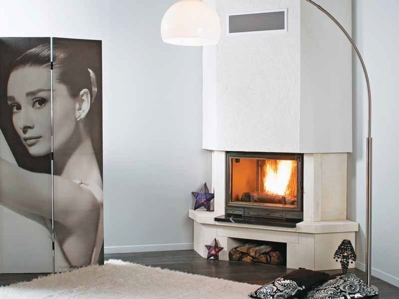 Wood-burning corner fireplace LIMA by CHEMINEES SEGUIN