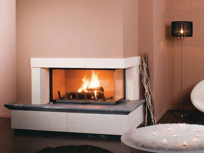 Double-sided wood-burning fireplace MELIKA by CHEMINEES SEGUIN
