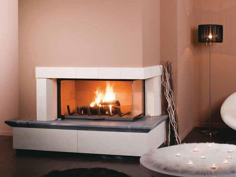 caminetto a doppia facciata a legna melika by cheminees seguin duteriez. Black Bedroom Furniture Sets. Home Design Ideas