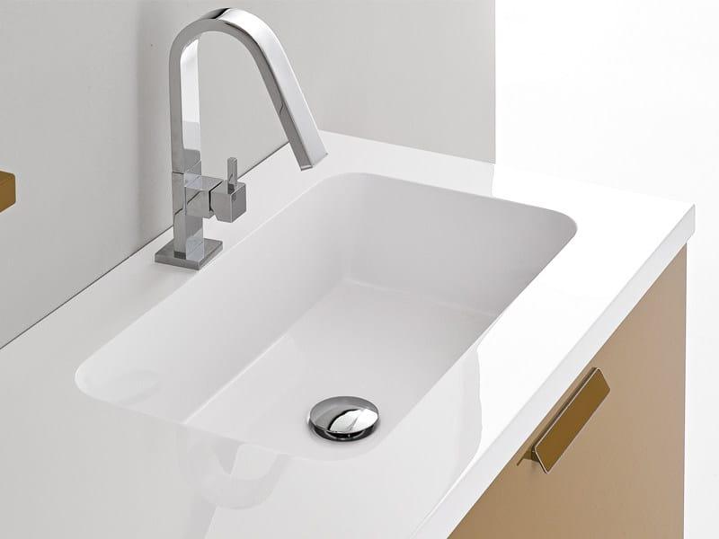 Inset rectangular washbasin GEMINI - Edoné by Agorà Group