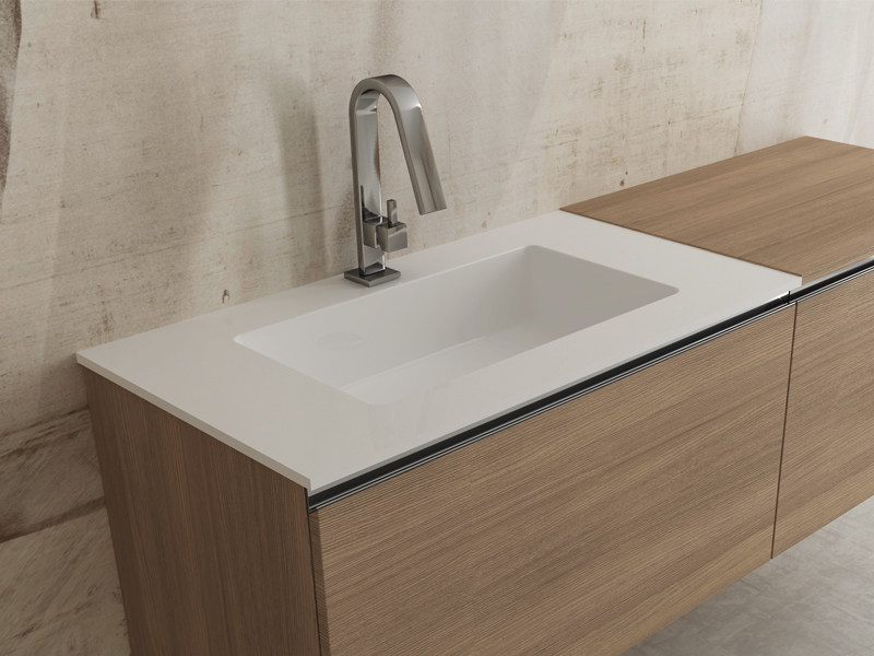 Inset rectangular washbasin IDRA - Edoné by Agorà Group