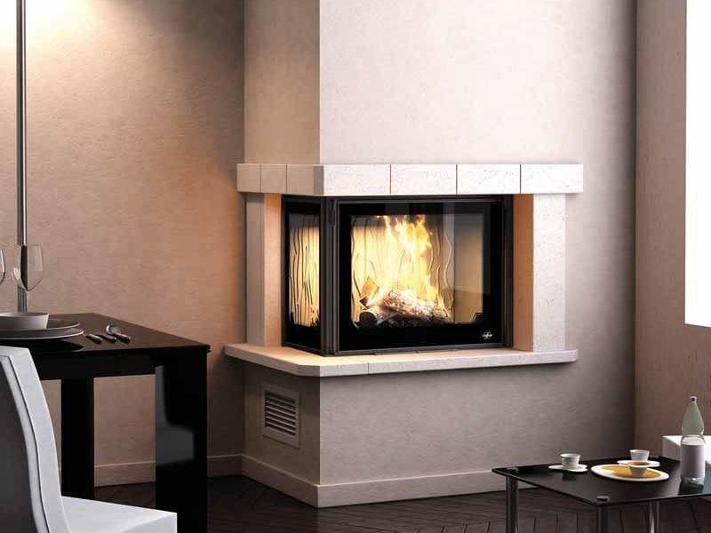 Wood-burning corner fireplace PORTO II - CHEMINEES SEGUIN DUTERIEZ