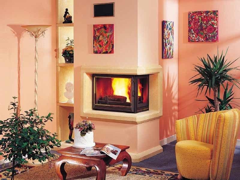 Wood-burning corner fireplace DIAMANTINE | Corner fireplace - CHEMINEES SEGUIN DUTERIEZ