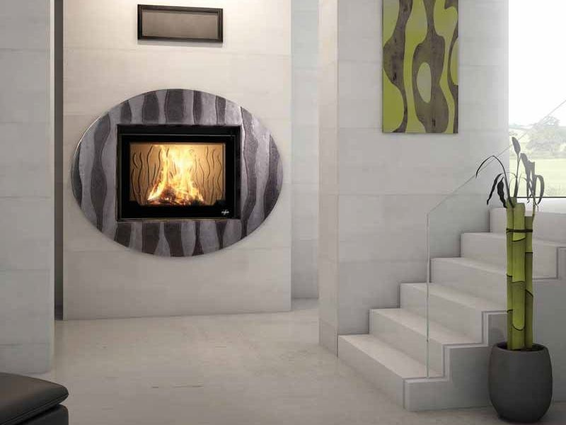 Wood-burning built-in wall-mounted fireplace ELLIPSE by CHEMINEES SEGUIN