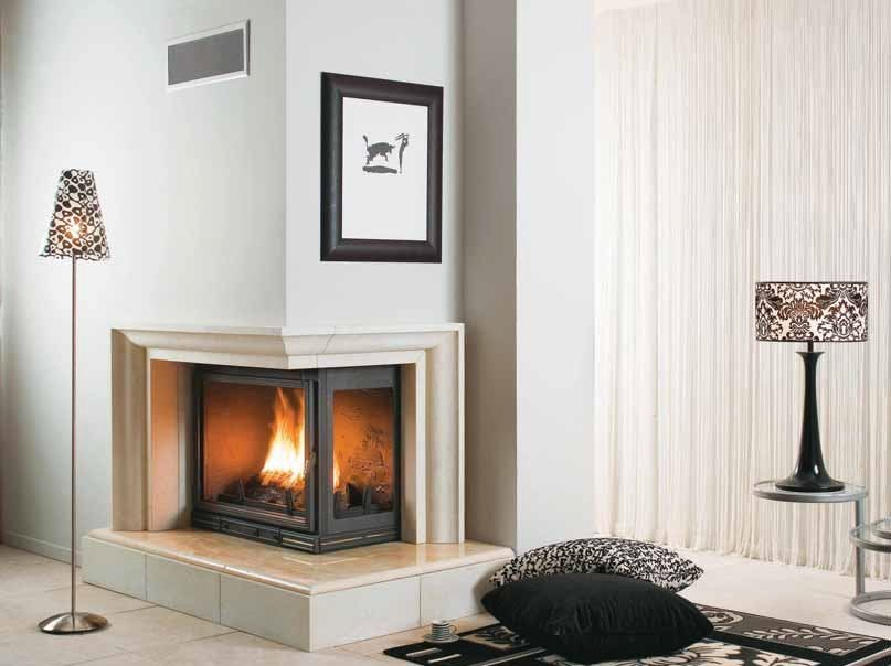 Wood-burning corner fireplace FANNY - CHEMINEES SEGUIN DUTERIEZ