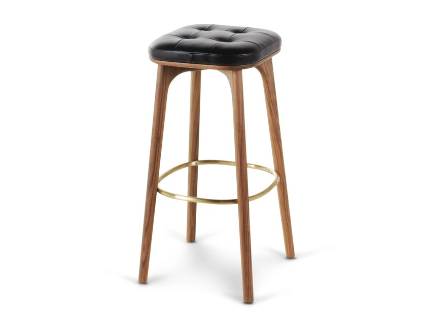 High wooden barstool with footrest UTILITY STOOL H760 - STELLAR WORKS
