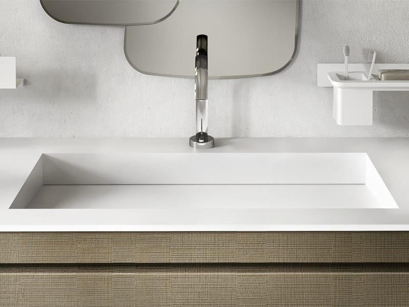 Inset rectangular Corian® washbasin CENTAURO - Edoné by Agorà Group