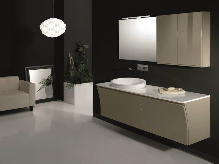 Single wall-mounted vanity unit S129 by Mobiltesino