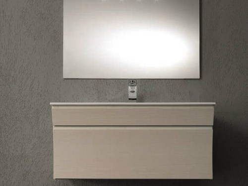 Single vanity unit with drawers S122 - Mobiltesino