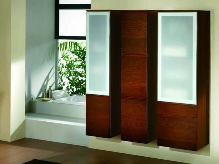 Elm bathroom cabinet with doors S104 | Bathroom cabinet - Mobiltesino