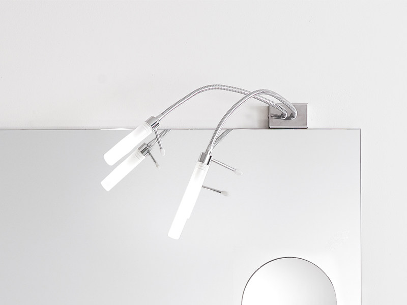 Halogen chrome plated mirror lamp DA VINCI2 - Edoné by Agorà Group