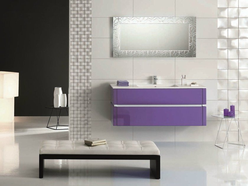 Single vanity unit with drawers QU13 | Vanity unit - Mobiltesino