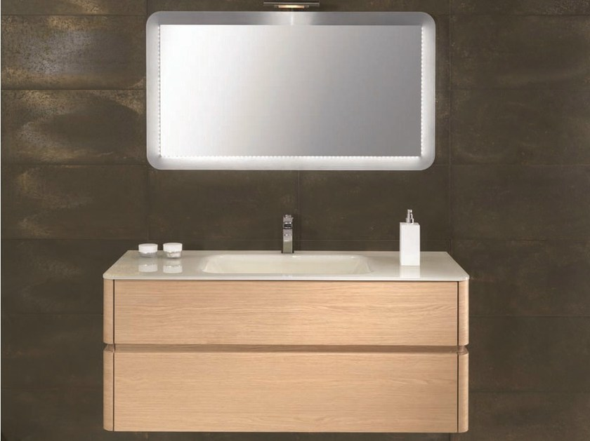 Single vanity unit with drawers QU38 - Mobiltesino