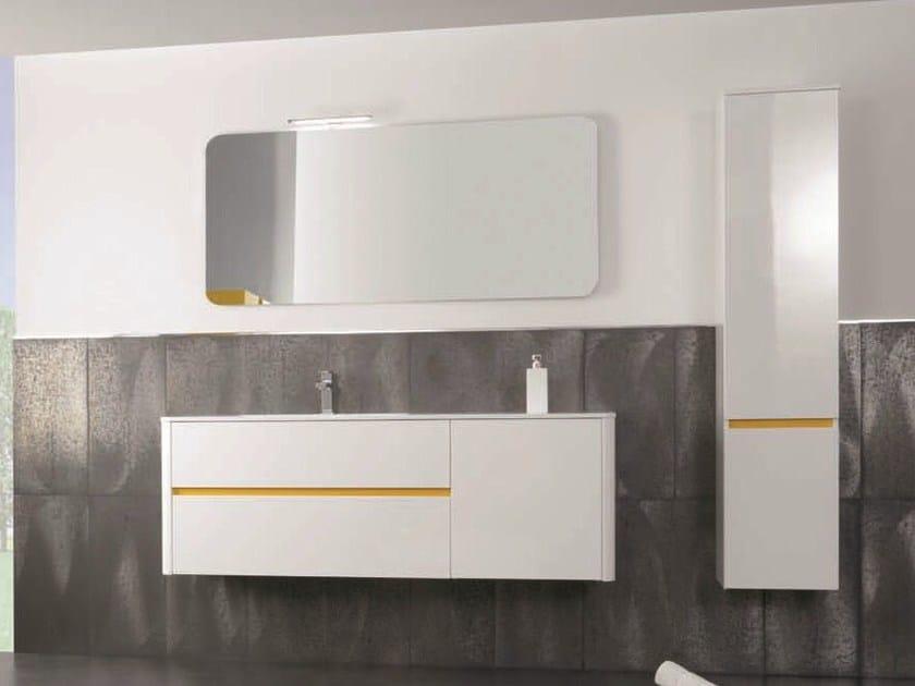 Vanity unit with doors with drawers QU32   Vanity unit - Mobiltesino