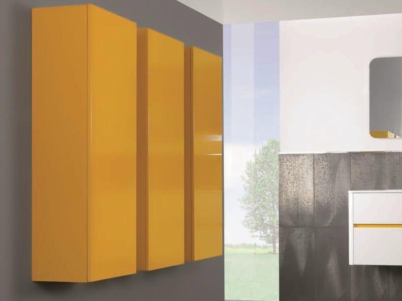 Tall bathroom cabinet with doors QU32 | Tall bathroom cabinet - Mobiltesino