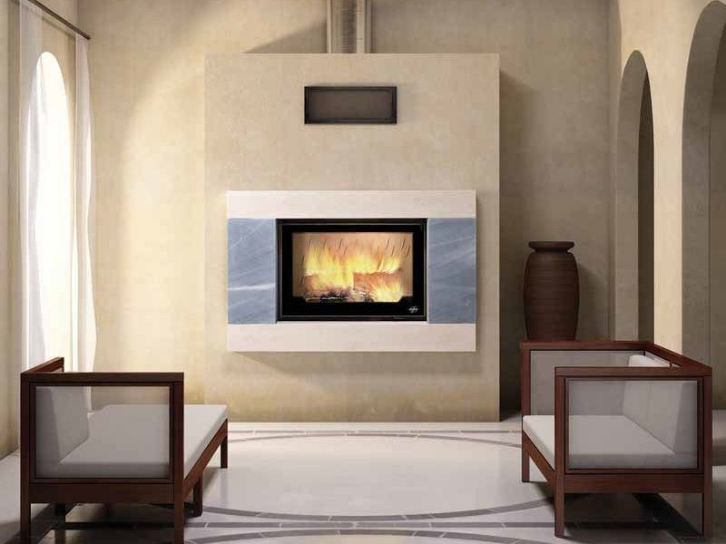 Wood-burning built-in wall-mounted fireplace LINDSAY - CHEMINEES SEGUIN DUTERIEZ