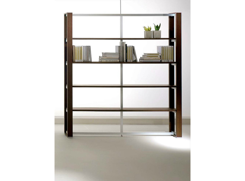 Tall wood veneer office shelving ELECTA | Office shelving - IFT