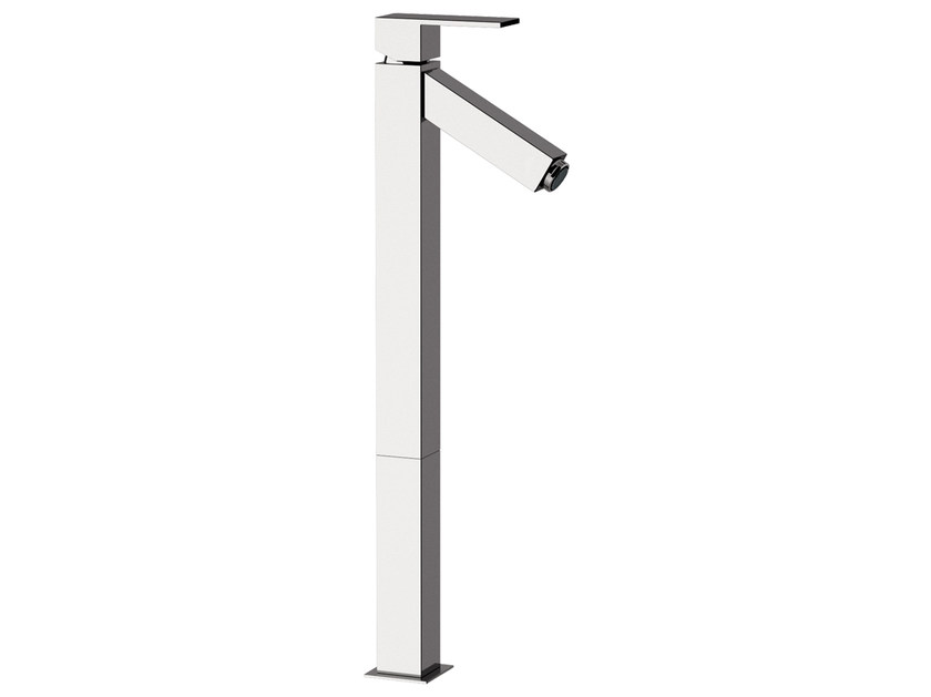 Chrome-plated single handle washbasin mixer TOWER | Single handle washbasin mixer - Rubinetterie Mariani