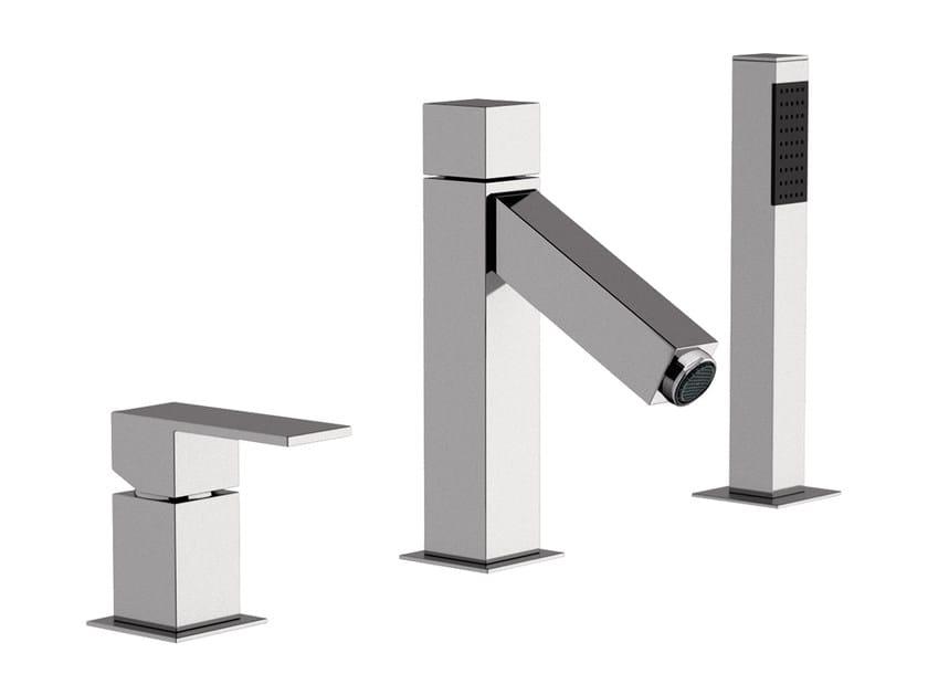 3 hole bathtub set with hand shower TOWER | Bathtub set - Rubinetterie Mariani