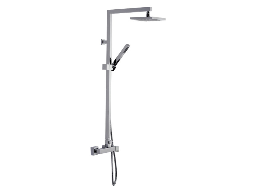 Wall-mounted thermostatic shower panel with overhead shower A39-CD | Shower panel - Rubinetterie Mariani