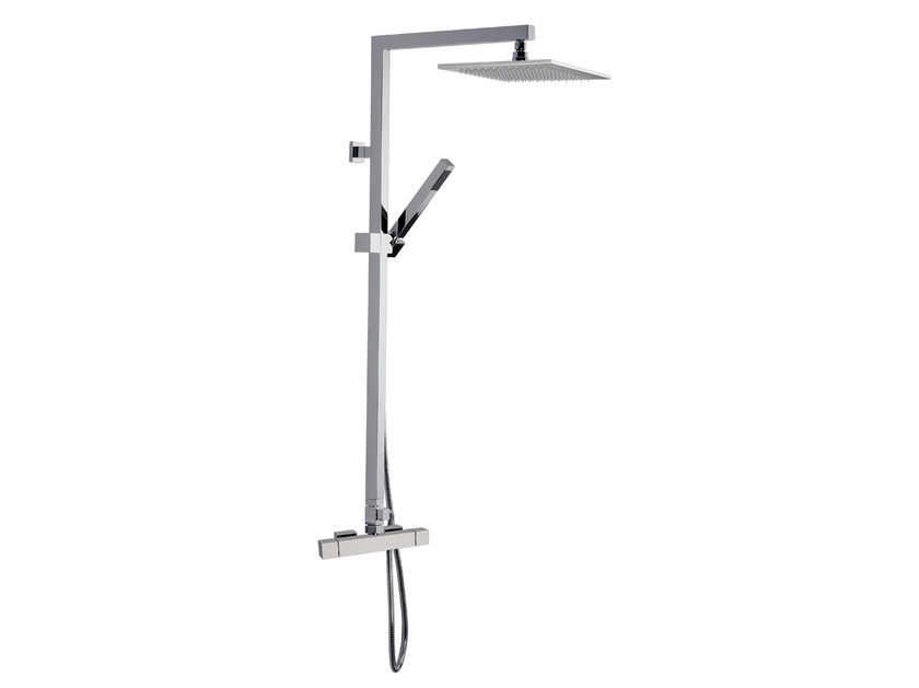 Wall-mounted shower panel with overhead shower A51-C2 | Shower panel - Rubinetterie Mariani