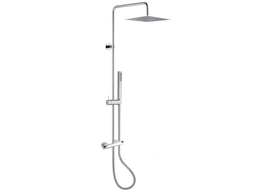Wall-mounted shower panel with hand shower A56-C2 | Shower panel - Rubinetterie Mariani