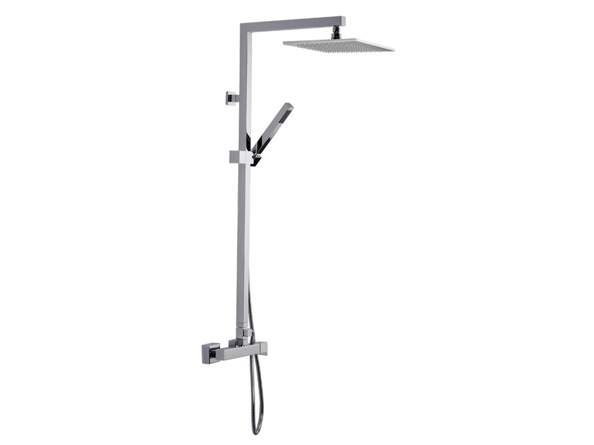 Wall-mounted shower panel with overhead shower A51-C1 | Shower panel by Rubinetterie Mariani