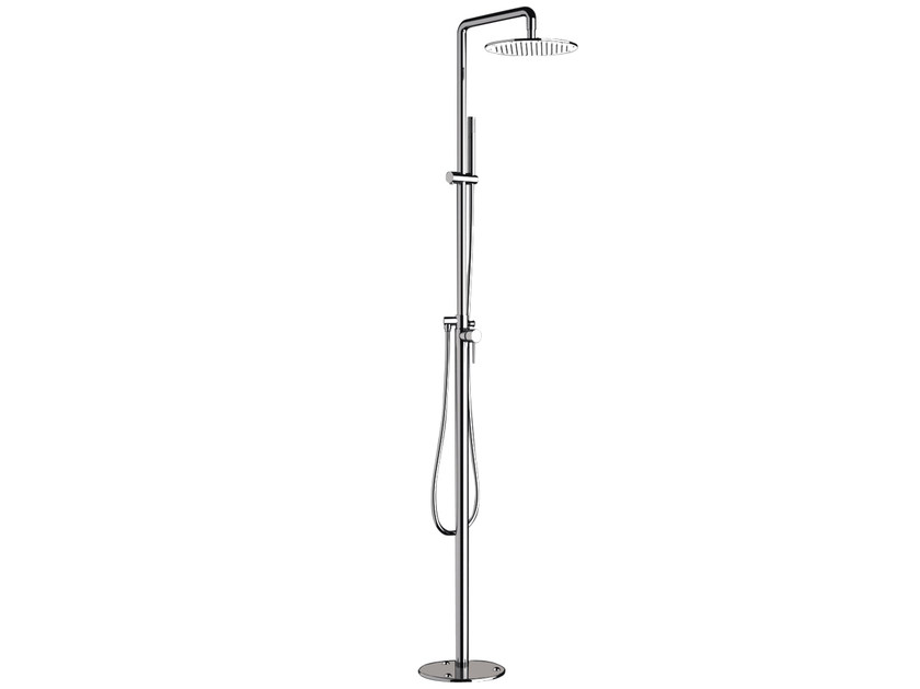 Floor standing shower panel with overhead shower A52-CD | Shower panel by Rubinetterie Mariani