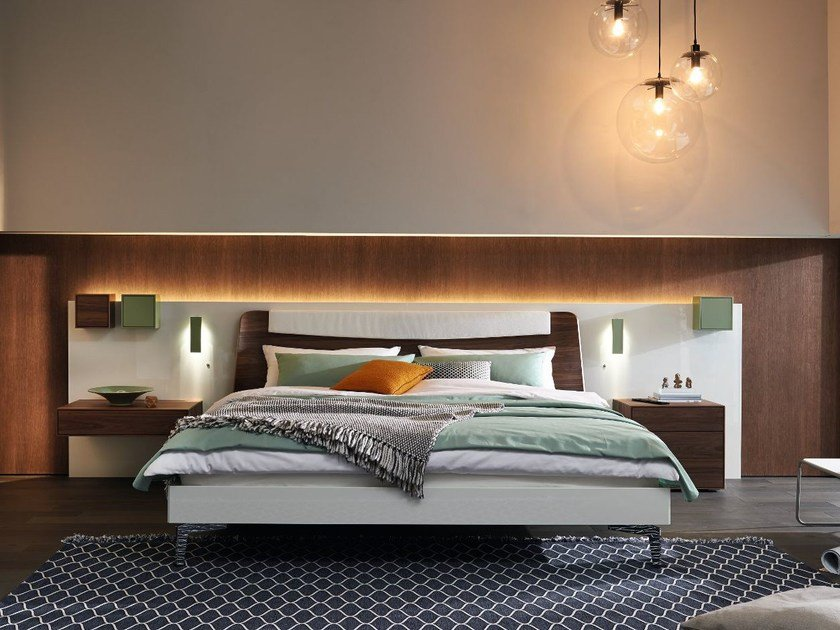 Lacquered headboard for double bed LUNIS | Headboard - Hülsta-Werke Hüls