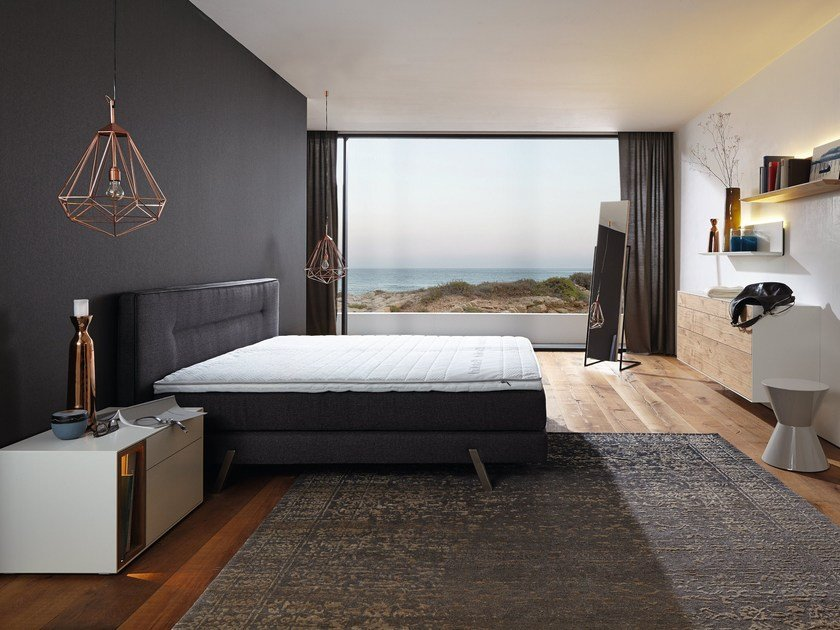 boxspring suite harmony fabric bed by h lsta werke h ls. Black Bedroom Furniture Sets. Home Design Ideas