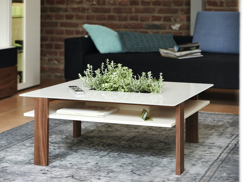 Low square wooden coffee table NOW! VISION | Coffee table - Hülsta-Werke Hüls