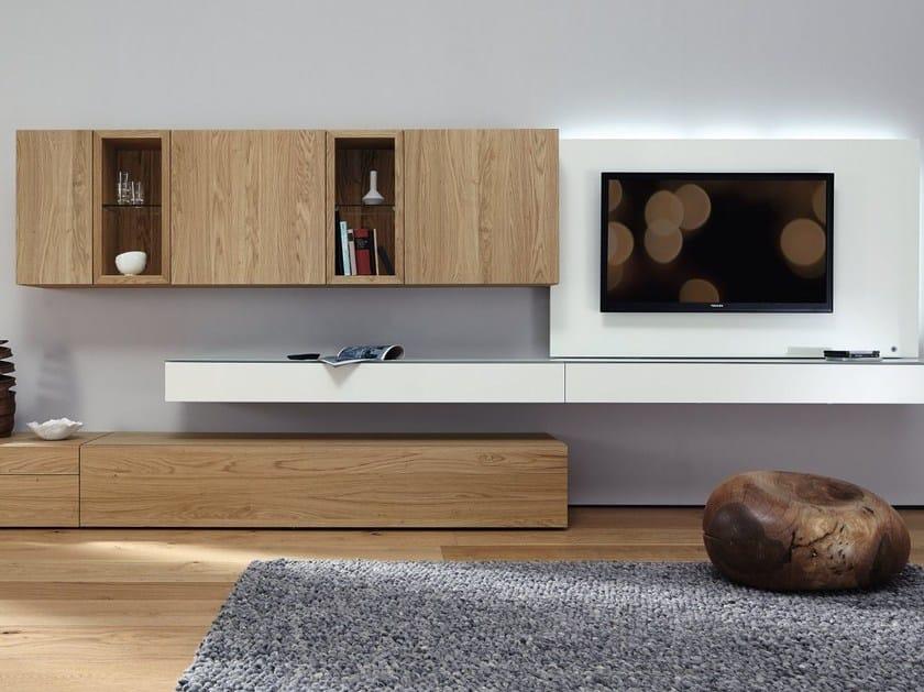 neo parete attrezzata fissata a muro by h lsta werke h ls. Black Bedroom Furniture Sets. Home Design Ideas