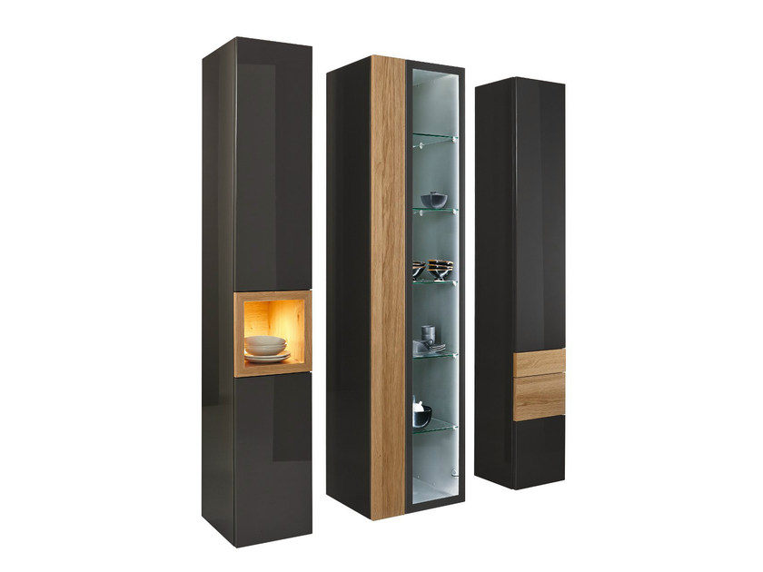 Lacquered wood and glass display cabinet NEO | Display cabinet - Hülsta-Werke Hüls